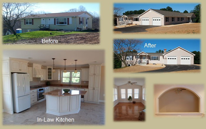 Renovate Existing Rancher Add On In Law Suite Two Car Garage 3 Bedroom 4 Bathroom 2 Kitchens Completed June 2010 Sykesville Md